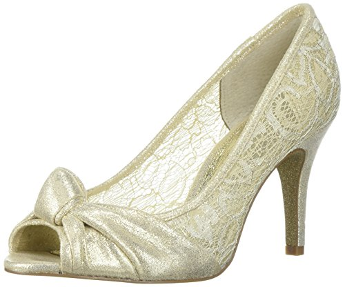 Adrianna Papell Women's Francesca Pump Gold Mosaic Lame 5.5 M US