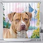 Breedink American Staffordshire Terrier Print Shower Curtains 5