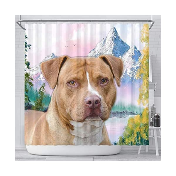 Breedink American Staffordshire Terrier Print Shower Curtains 1