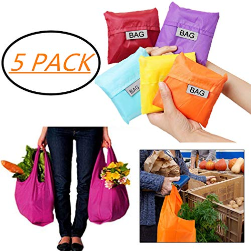 Wwweyi Folding Square Shopping Bag Convenient Solid Big Capacity Storage Bag Reusable Grocery Bags