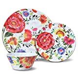 Cheap Kim Parker Zinnia Garden Melamine Dinnerware Set (24 Piece)