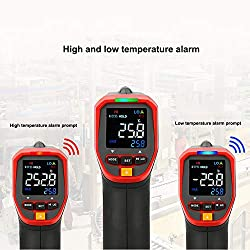 Jklnm Infrared Thermometer Handheld Digital LCD Non-Contact Industrial Electric IR -32? to 420? Adjustable Emissivity for Cooking/Brewing/Automobile/Industries