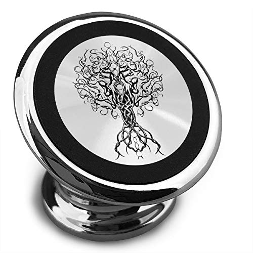 Universal Magnetic Phone Car Mounts Magnet Holder Black Tree of Life Magnetic Mount for Phone 360° -