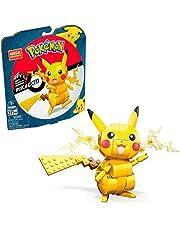 Mega GMD31 - Mega Construx Pokémon Pikachu Set med olika karaktärer, Byggleksaker för barn (211 bitar), för barn från 7 år