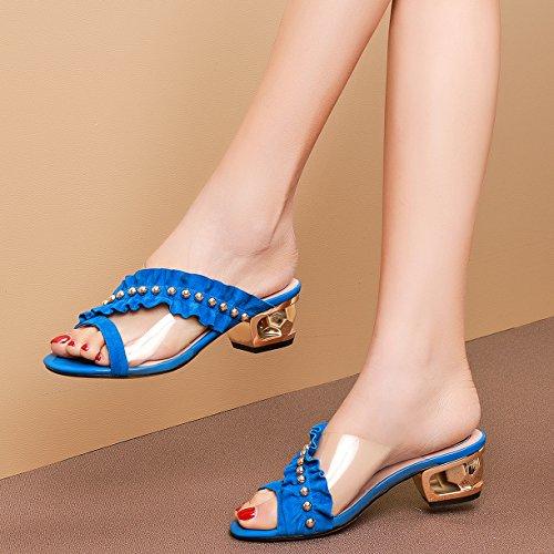 Mules JYshoes Femme Bleu Bleu JYshoes Femme Mules HqIIwr