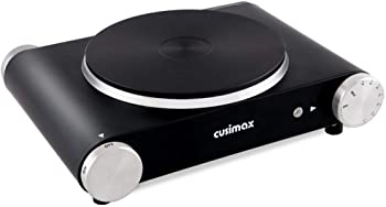 Cusimax CMHP-B101 Electric Hot Plate, Countertop Single Burner