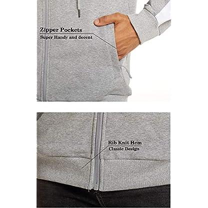 TACVASEN Men's Hoodie Fleece Hooded Sweatshirt Full Zip Sport Casual Jacket Hoody 3
