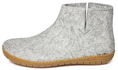 Glerups Unisex Model Gr Grey Slipper - 38