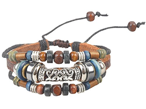 Ancient Tribe Women's Hemp Leather Beads Beaded Bracelet