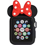 Navor Soft Silicone Protective Case Disney Character Minnie Mouse Ears Compatible with Apple Watch 38mm Series 1 2 3 [B