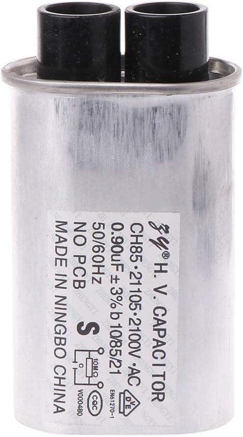 BIlinli AC 2100V Horno microondas Alta tensión HV Condensador 0.90μF Reemplazo Universal