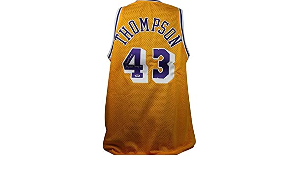 7c73ae96 Lakers Mychal Thompson 'Showtime' Authentic Signed Yellow Jersey PSA/DNA ITP  at Amazon's Sports Collectibles Store