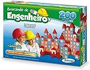 Brincando de Engenheiro 200 Peças Xalingo Multicor