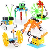 UNGLINGA STEM Toys Electric Motor Robotic Science Kit for Kids Intro to