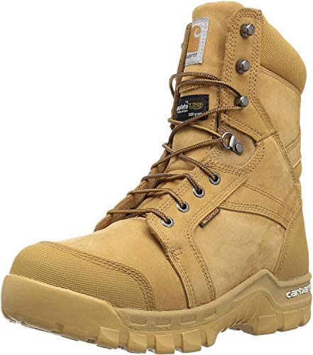 Amazon Com Carhartt Men S 8 Rugged Flex Insulated Waterproof Breathable Soft Toe Work Boot Industrial Construction Boots