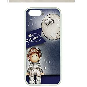 Case For HTC One M7 Cover ,fashion durable white side design phone case, pc material phone cover ,with fly me to the moon .