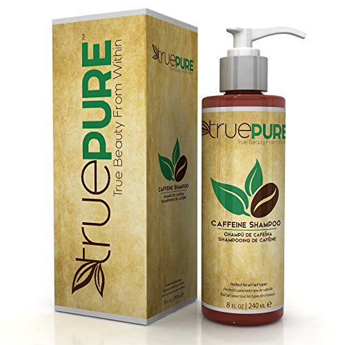 TruePure Natural Caffeine Shampoo With CoffeePure Complex - Fragrance Free, Non-GMO, Paraben & Sulfate Free Formula For Hair Loss Prevention & Healthy Hair Growth - 8oz