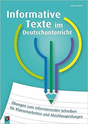 Informative Texte Im Deutschunterricht übungen Zum Informierenden