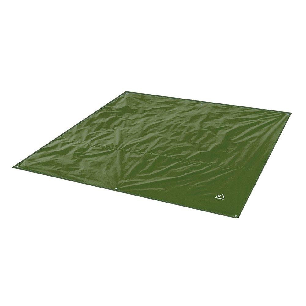 Terra Hiker Camping Tarp, Water Proof Picnic Mat, Mutifunctional Tent Footprint with Drawstring Carrying Bag for Picnic, Hiking (Dark Green 70'' x 86'') by Terra Hiker