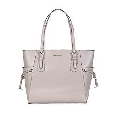 944b86f67c6d Amazon.com  MICHAEL Michael Kors Voyager East West Signature Tote (Pearl  Grey Silver)  Shoes
