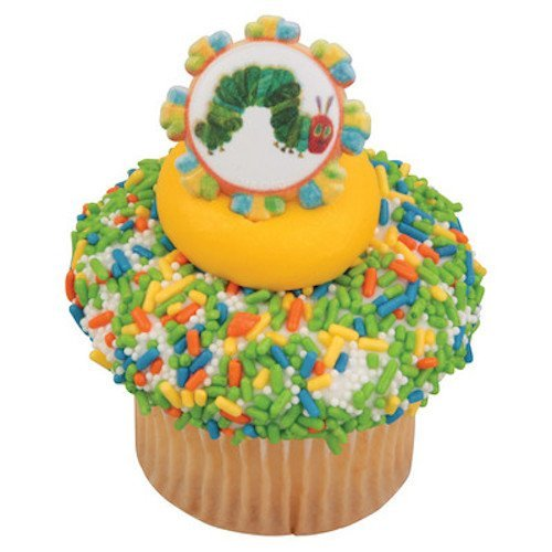 The Very Hungry Caterpillar Cupcake Topper Rings - Set of 12