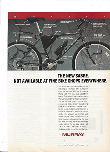 PRINT AD For 1992 Murray Sabre Bicycles Not Available At Fine Bike Shops