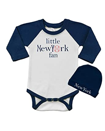 Baby Bodysuit & Cap Set - Little New York Fan