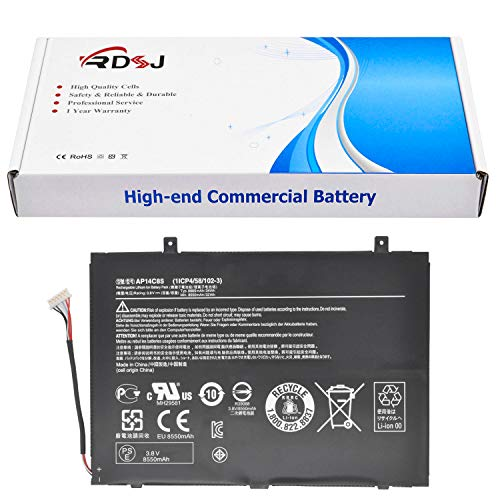 RDSJ Compatible AP14C8S Laptop Battery Replacement for Acer Aspire Switch 11 SW5-111 SW5-171 Series 1ICP4/58/102-3 KT.0030G.005 3.8V 34Wh
