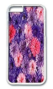iPhone 6 Plus Case,VUTTOO iPhone 6 Plus Cover With Photo: Purple Flowers For Apple iPhone 6 Plus 5.5Inch - PC Transparent Hard Case