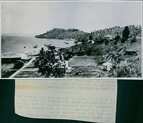 Vintage photo of Here39;s How U.S. Marines Land On Solomon Islands.The Marines, in landingon, and kicking the Jape out of, several Solomon Islands, have formed the victorious vanguards of the first full-dress United States offensive in the World War II. The Marines offensive was covered by units of the U.S. Fleet which put to rout a strong Jap naval force which tried to break up the landing operations.