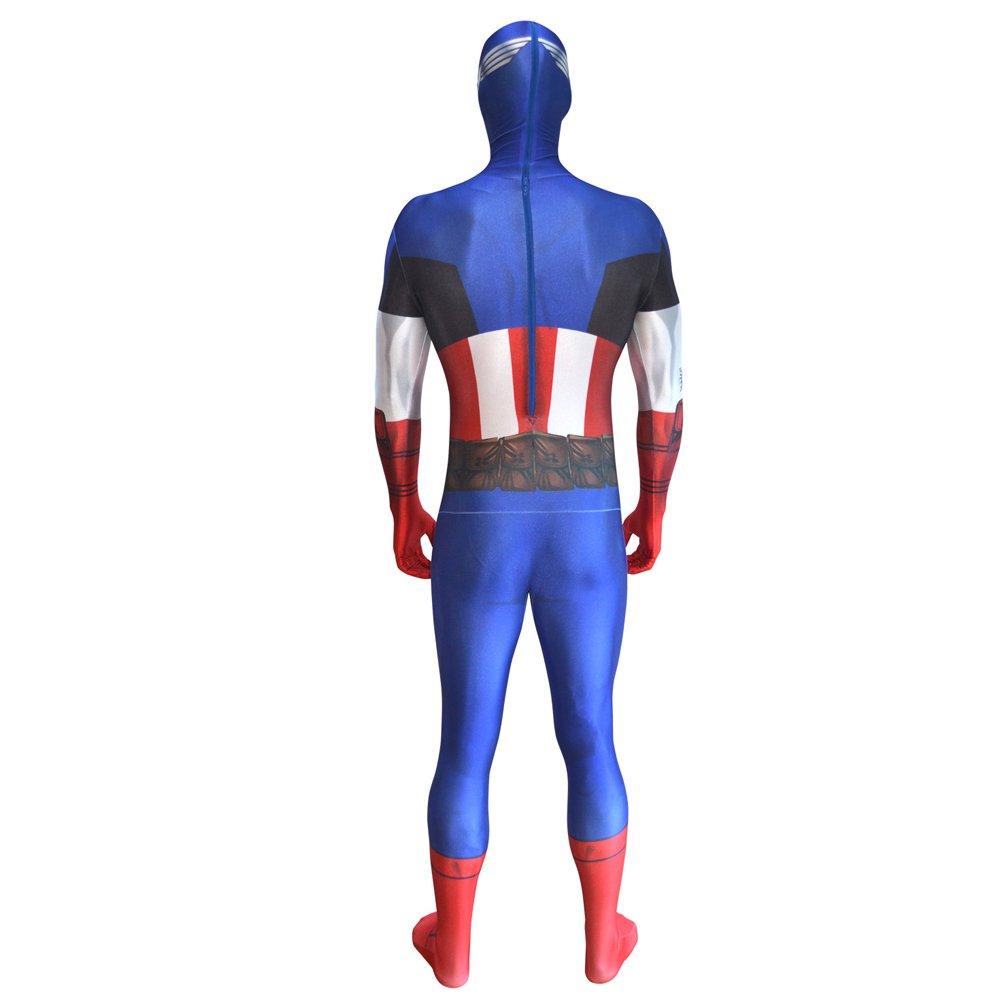 Morphsuits MLCA2 - Capitán América Disfraces adultos, XXL, 186 a 210 cm, multicolor