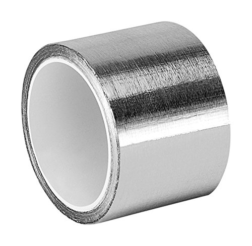 Scotch 3311 Aluminum Foil Tape - 2 in. x 5YD. Vapor Resistant Silver Foil Tape Roll with Thermal Conductivity, Rubber Adhesive (Lined Insulation Foil)