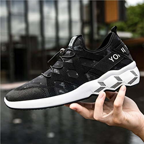 Scarpe da uomo scarpe da ginnastica scarpe da ginnastica traspirante scarpe da svago sportivo per campeggio trekking trekking , Black , 41