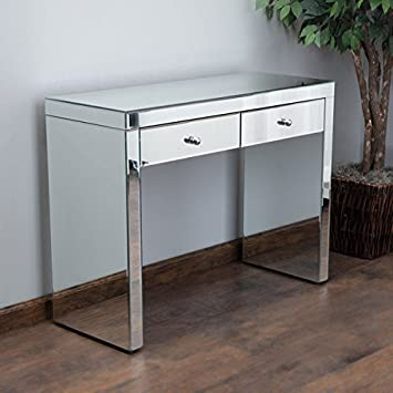 Elegant Christopher Knight Home Roxie Mirrored Two Drawer Console Table