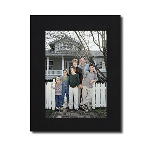 Adeco 5x7 Decorative Black Wood Wall Hanging or Tabletop Desktop Display Couple Wedding Family Wide Margin Frame - Made to Display 5x7 Photo - Wide Wood Desk