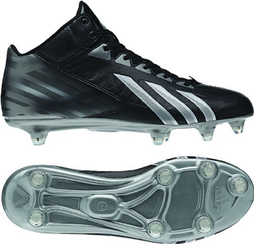 adidas Filthyquick Mid D Football Cleats (11, Black/Platinum/Titanium)
