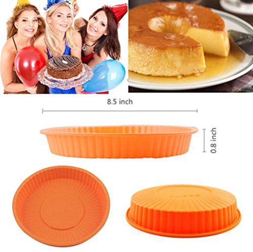 USA Premium Store 8'' Round Silicone Cake Mold Pan Muffin Chocolate Pizza Pastry Baking Tray Mould by USA Premium Store