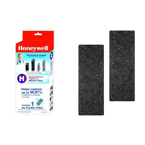 Honeywell True HEPA Air Purifier Replacement Filter, HRF-H1/Filter (H) & Honeywell Odor-Reducing Air Purifier Replacement Pre-Filter 2 Accumulation, HRF-B2 /Filter (B)