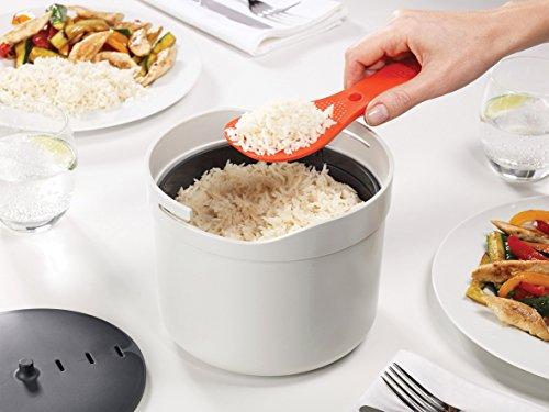 -[ Joseph Joseph M-Cuisine Microwave Rice and Grain Cooker - Stone/Orange  ]-