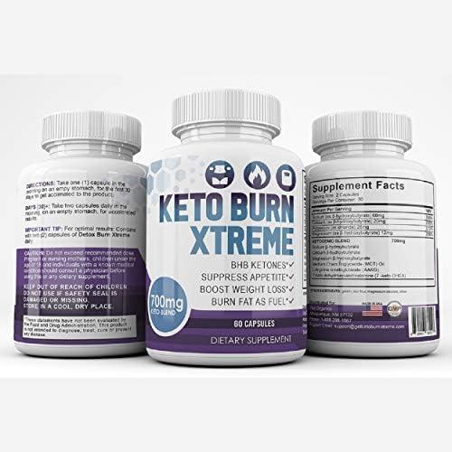 Keto Burn Xtreme - BHB Ketones - Suppress Appetite - Boost Weight Loss - Burn Fat As Fuel - 700mg Keto Blend - 30 Day Supply 8
