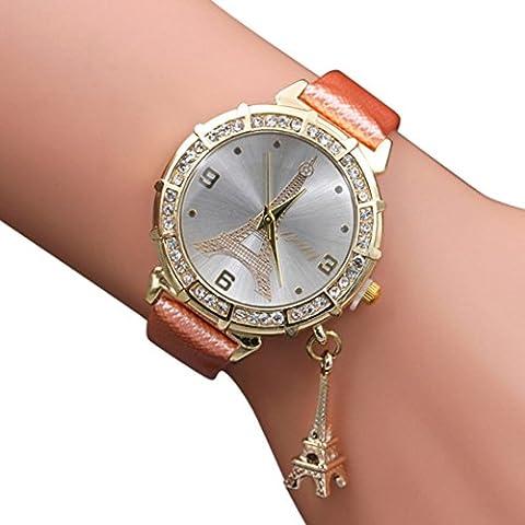 Women Quartz Watch, Winhurn The Eiffel Tower Rhinestone pendant Wrist Watch NEW (C) (Iphone 5 C Unlocked Price)