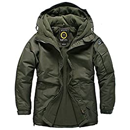 South Play Mens Premium Ski Snowboard Wear Jacket Jumper Solid Khaki