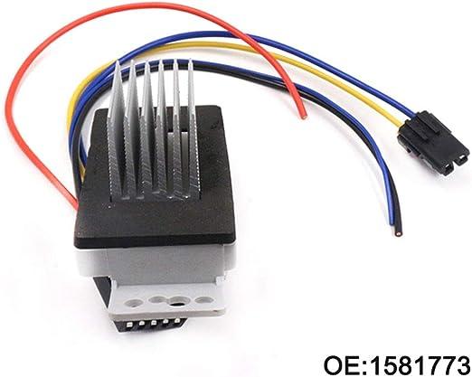XDDXIAO Resistencia del Motor del Ventilador con Enchufe 1581773 ...