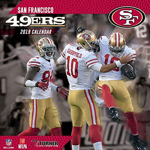 2019 San Francisco 49ers Mini Wall Calendar, San Francisco 49ers by Turner - Calendars 49ers San Francisco