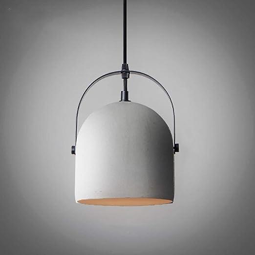 LYDB Lámpara Colgante de Cemento Industrial - 1 Llama, lámpara ...