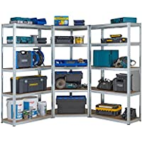 Racking Solutions - Kit de esquina de garaje galvanizado, 1 unidad de esquina 1800 mm x 900 mm x 400 mm y 2 estantes…
