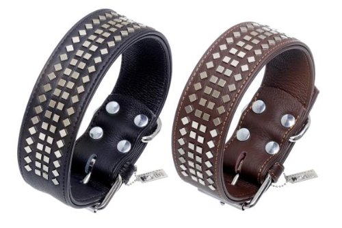 Karlie Vintage Collar with 4eck Rivets 50mm - Black 50 mm / 50 cm by Karlie