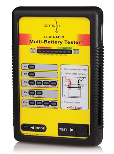 Lead Acid Battery Tester - The ZTS Lead Acid Multi-Battery Tester w/Clip Lead - MBT-LA2/CL by ZTS, Inc.