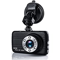 Dash Cam,EVASA 150° Wide Angle Full HD 1080P with G-Sensor,Night Vision,WDR,Loop Recording,3.0 LCD Dashboard Camera RecorderT660-7