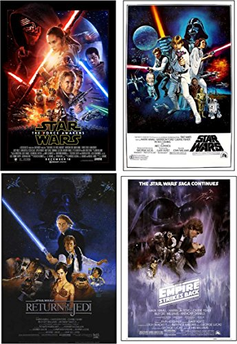 Star Wars Episodes 4, 5, 6 and 7 24x36 posters